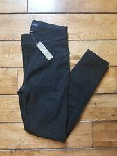 Womens J CREW Denim Jeans Pull-on Stretch Toothpick Size 27 Dark Black NWT New