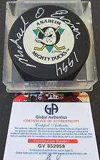 Michael Eisner Signed Anaheim Mighty Ducks Puck 1994 - Global Authentics