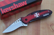 KERSHAW SCALLION ASSISTED OPENING KNIFE HI POINT FIREARMS BLACK RED 1620BRHP NEW
