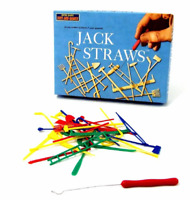 JACKS STRAWS RETRO BOARD GAME - 10-076 FUN CLASSIC PICK UP STICKS 1950'S GAMES