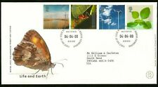 LIFE & EARTH BUTTERFLY SOLAR PANELS SPIDER WEB BRITISH FIRST DAY COVER TO FRAME!