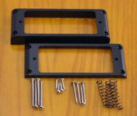 Mini Humbucker Pickup Rings & Hardware - Black