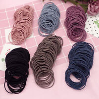 100Pcs Kids Girls Lady Elastic Rubber Hair Bands Ponytail Holder Head Rope Ties