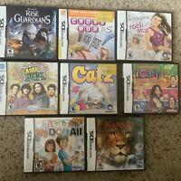 Nintendo DS Game Lot Rise Of The Guardians Disney Narnia Catz Imagine Rock Star