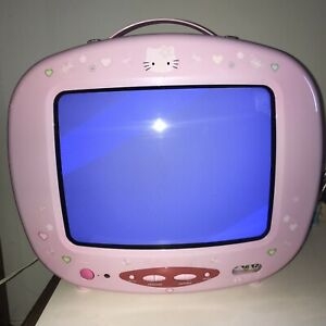 Vintage Hello Kitty TV Sanrio Kawaii Fairy Kei Pink Japan No Controller