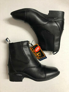 Ariat Quantum Devon Pro black leather English riding paddock boot 7.5 NWT $199
