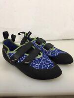 CLIMB X CLIMBX  Men's Size US 11.5  Blue / Green Trim , Climbing Shoes