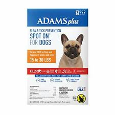 Adams Plus Fleas and Tick Spot On for Dogs Topical Medium Dog 15 tp 30 lbs