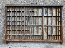 Rare Beautiful 100+ year old Printers TYPE TRAY w/ Brass edging & Cast Iron Pull