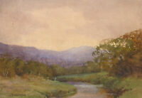 J. Anderson - Early 20th Century Watercolour, Autumnal River Landscape