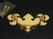 Ornate Chippendale NOS Brass Drop Bail Pull Furniture Drawer Handles C.C. 3