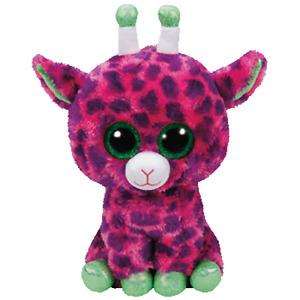 Ty Beanie Boos Medium - Gilbert the Pink & Purple Giraffe