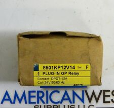8501KP12V12 SQUARE D Plug in Relay ser F  DPDT-12A  24V coil New in box