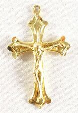 Religious 1.7 Grams Free Shipping 14k Solid Gold Cross Pendant Jesus