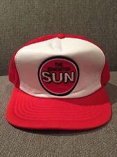 New Vintage Edmonton Sun Trucker Style Snap Back Hat Alberta AB Canada Newspaper