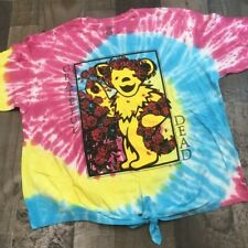 Grateful Dead tie dye tie front graphic tee shirt womens small short sleeve