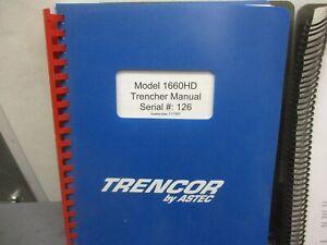 Astec Trencor  Model 1660HD  Trencher Manual