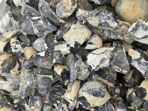 25KG Of Gabion Fill Mixed Coloured Flint 75mm To 160mm Approximately