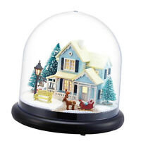 DIY Wooden Dolls house Miniature Kit Cover Dollhouse Furniture Gift  Christmas