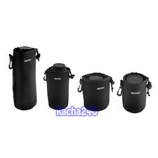 4 pcs Size XL L M S Matin Neoprene Soft Camera Lens Pouch Bag Case Waterproof