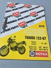 Aprilia catalogue pièces détachées Tuareg 125 1987 moteur 127 AF1 B 127E