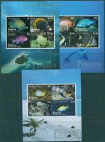 Cook Islands Penrhyn 2012 SG616-618 Tropical Fish MS set of 3 MNH