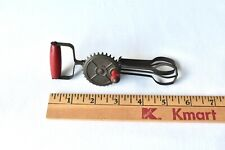 Rare Vintage Antique BETTY TAPLIN TOY EGG BEATER Red Wood Handle Kitchen Utensil