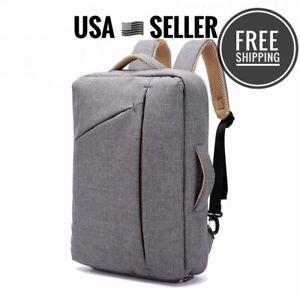 NEW Anti-theft Backpack Laptop Gray School Travel Bag Handbag Unisex Password