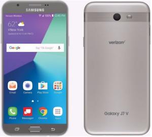 Samsung Galaxy J7 V  Unlocked 16GB - Silver (Verizon Unlocked) 9/10