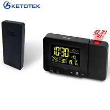 Reloj despertador proyección digital radio-control repetición de alarma termómetro