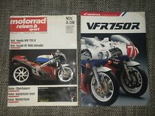 Motorrad Reisen & Sport NOV. Nr. 14/89 :  VS1400  HONDA VFR750 R + Prospekt RC30