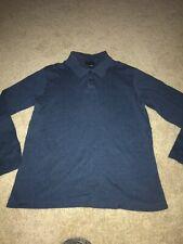 Alfani Men's Shirts BLUE Size S SMALL Ribbed Knit Long-Sleeve Henley