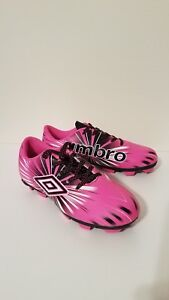 UMBRO Soccer Cleats Pink Size 4 Kids