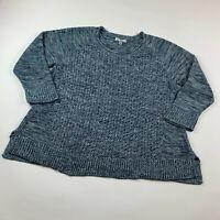 Dress Barn Women's Sweater Mixed Knit Blue Plus Size 2X