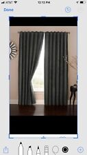 """Absolute Zero BRADLEY Home Theater Blackout Curtain Panel 50"""" x 84"""" Charcoal"""