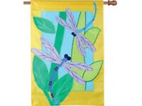 Two Dragonflies Decorative House Flag