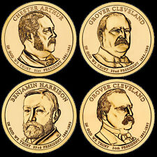 """A 2012 Presidential Dollar COMPLETE 4 Coin Set """"Brilliant Uncirculated"""" COINS"""