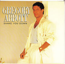 """GREGORY ABBOTT  Shake You Down PICTURE SLEEVE 7"""" 45 record + juke box strip"""