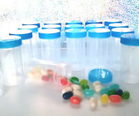 10 Pill Bottle JARS FROZEN THEME Party Candy Containers Favors 3814 DecoJars USA