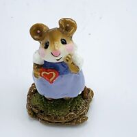 Wee Forest Folk Miniature Figurine Sweetheart Valentine Girl M 80 Retired