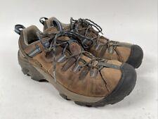 KEEN Targhee II Mens Size 9.5 Waterproof Hiking Shoes Brown Leather Blue 1002369