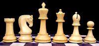 "Leningrade Series Premium Staunton 4"" Chess Set in Golden Rose Wood & Box Wood"