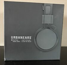 NEW UrbanEars Dark Grey Plattan On-Ear Headphones Mic One Size