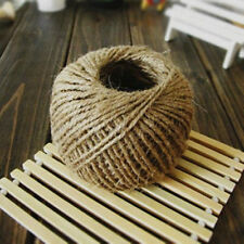 Hot 30m Natural Brown Jute Hessian Burlap Twine Sisal Rustic String Cord BDAU