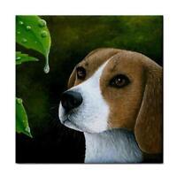 Large Ceramic Tile 6x6 Dog 116 Beagle Made in USA art painting L.Duma