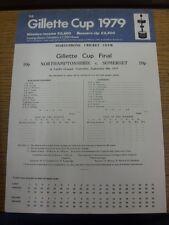 08/09/1979 Cricket Scorecard: Gillette Cup Final - Northamptonshire v Somerset [