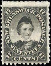 Canada Used (MNG?) New Brunswick 1860 17c F+ Scott 11 Queen Victoria Stamp