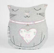 VINTAGE Gatto Cuscino Shabby Chic Animal Scatter Cuscino & interno da Sass & Belle