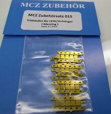 MCZ accesorios 015: 8 X de latón-estribo para camiones remolque/1/87