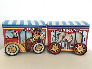 Cadbury's Animal Biscuit Circus Tin Train Vintage 80s Advertising Collectible